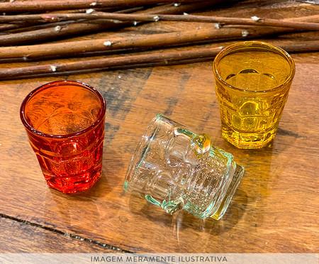 Jogo de Copos para Drinks em Vidro Edis - Colorido | WestwingNow