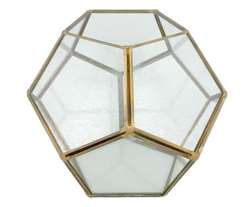 Lanterna Feigel - Transparente e Dourado, Dourado, Transparente | WestwingNow