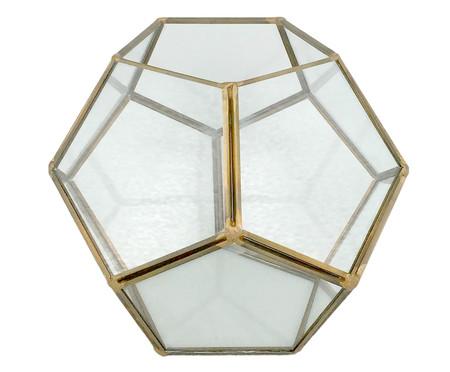 Lanterna Feigel - Transparente e Dourado | WestwingNow