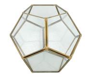 Lanterna Feigel - Transparente e Dourado   WestwingNow