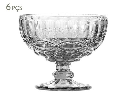 Jogo de Taças para Sobremesa em Vidro Liora - Transparente, Transparente | WestwingNow