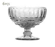 Jogo de Taças para Sobremesa em Vidro Liora - Transparente | WestwingNow