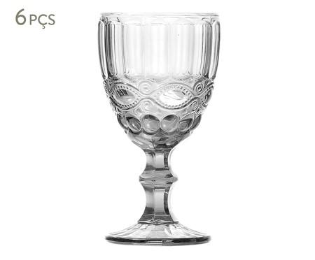 Jogo de Taças para Vinho em Vidro Urla - Transparente | WestwingNow