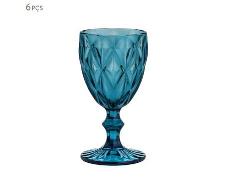Jogo de Taças para Água em Vidro Iara - Azul | WestwingNow