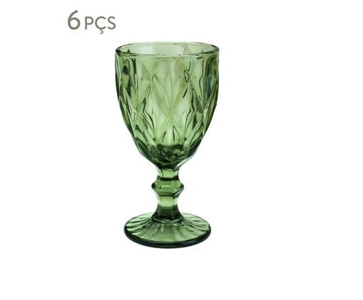 Jogo de Taças para Água em Vidro Iara - Verde, Verde | WestwingNow