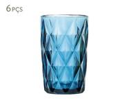 Jogo de Copos para Água em Vidro Iara - Azul | WestwingNow