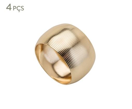 Jogo de Anéis para Guardanapo em Inox Circle Dourado - 04 Pessoas, Dourado | WestwingNow
