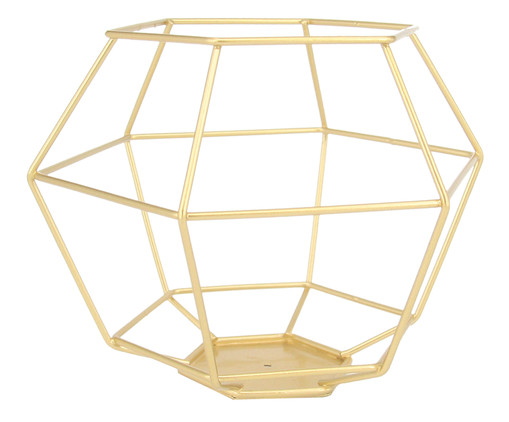 Lanterna Hasia - Dourada, Dourado | WestwingNow
