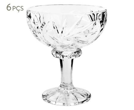 Jogo de Taças para Sobremesa em Cristal Naná - Transparente | WestwingNow