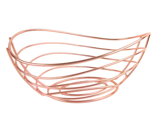 Fruteira de Metal Rúbia - Rosa, Rosé | WestwingNow