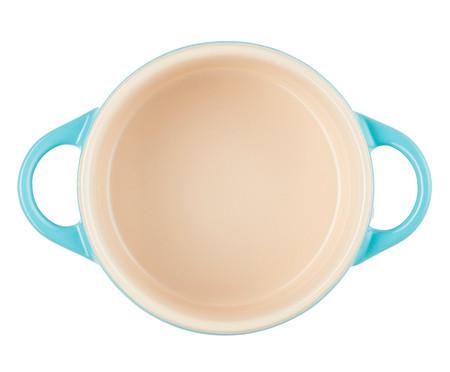 Mini Cocotte em Cerâmica - Azul Caribe | WestwingNow