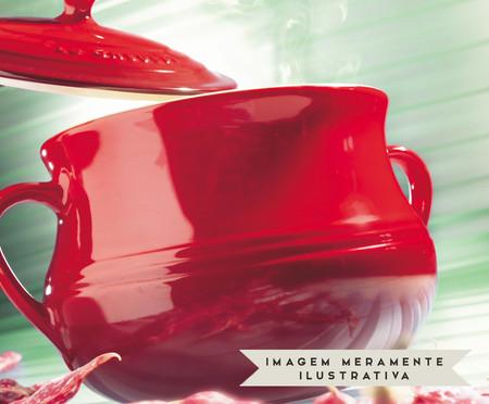 Sopeira com Tampa em Cerâmica - Vermelha | WestwingNow