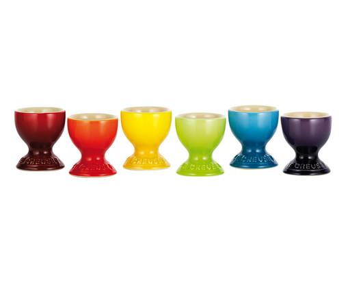 Jogo de Suportes para Ovo em Cerâmica Gift - 06 Pessoas, multicolorido | WestwingNow