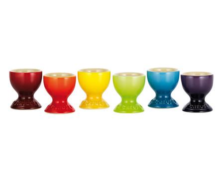 Jogo de Suportes para Ovo em Cerâmica Gift 06 Pessoas - Colorido | WestwingNow
