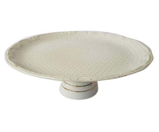 Prato para Bolo em Porcelana Lilith - Branco, Branco | WestwingNow