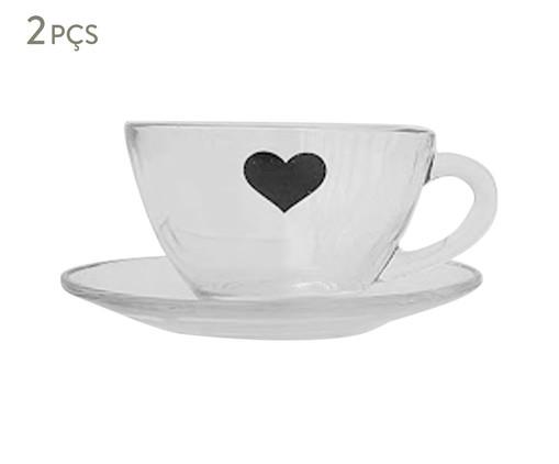 Xícara para Chá em Vidro Isa - Preta, Transparente   WestwingNow
