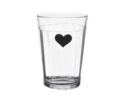 Copo para Água em Vidro Isa - Preto, Transparente | WestwingNow