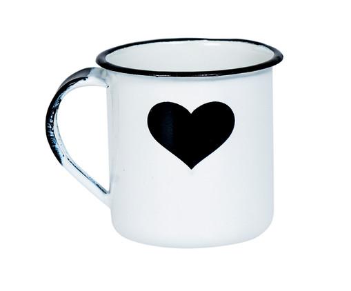 Caneca para Café em Metal Isa - Branca e Preta, Branco | WestwingNow