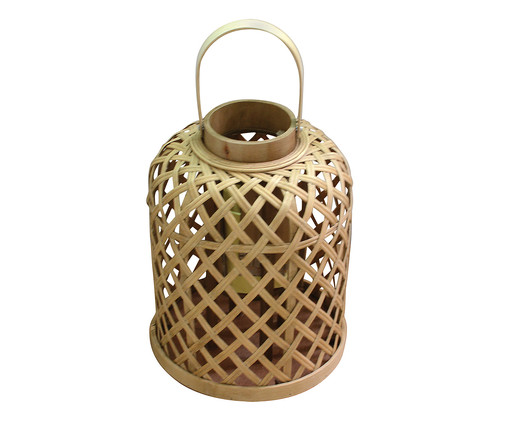 Lanterna Decorativa Bamboo - Marrom, Marrom, Bege | WestwingNow
