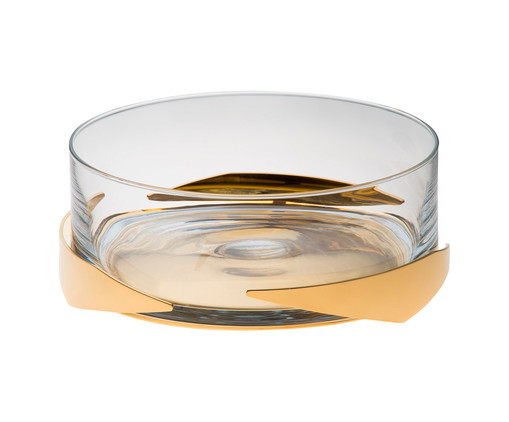 Fruteira em Ouro Gai, Transparente,Dourado | WestwingNow