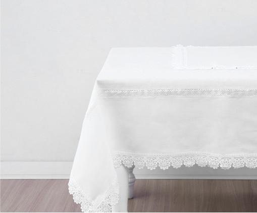 Toalha de Mesa Liza - Branca, Branco | WestwingNow