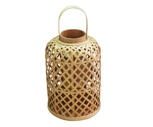 Lanterna Sheva - Marrom, Marrom, Bege | WestwingNow