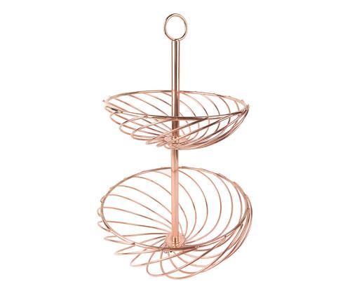 Fruteira de Metal Laura - Acobreado, Rosé | WestwingNow