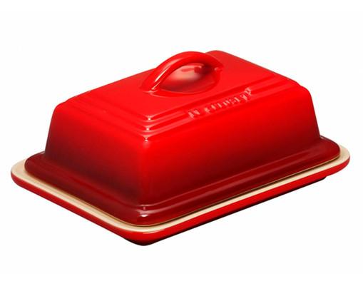 Manteigueira em Cerâmica - Vermelho, Vermelho | WestwingNow