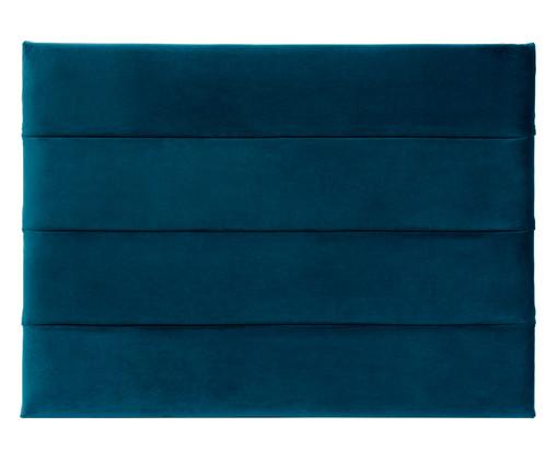 Cabeceira Painel em Veludo Frank - Esmeralda Pavão, Azul | WestwingNow