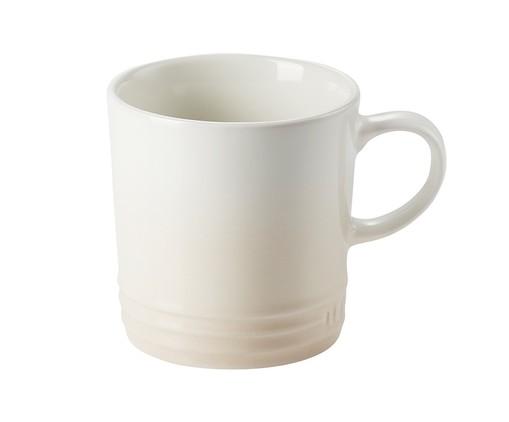 Caneca para Espresso em Cerâmica Meringue Le Creuset - Branca, rosa   WestwingNow