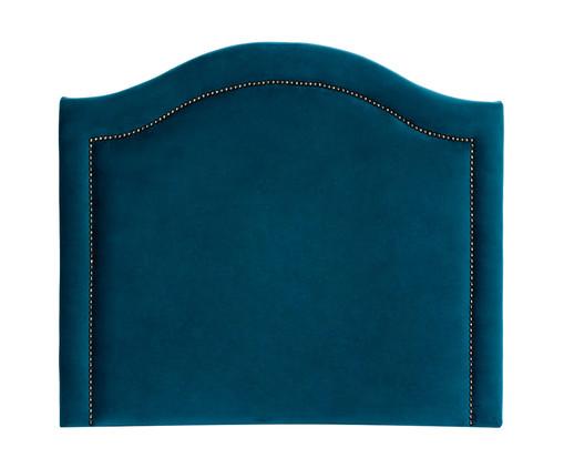 Cabeceira Painel em Veludo Joliet - Esmeralda Pavão, Azul | WestwingNow