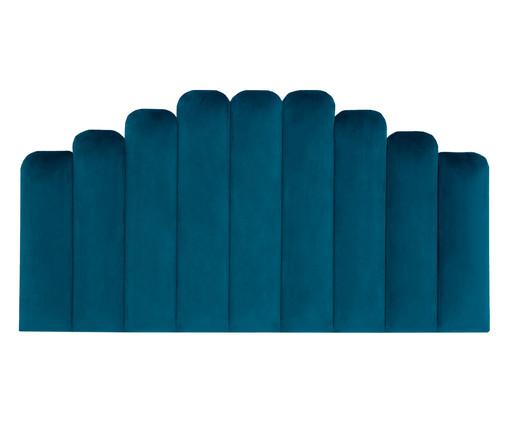 Cabeceira Painel em Veludo Royal Gomos - Esmeralda Pavão, Azul   WestwingNow