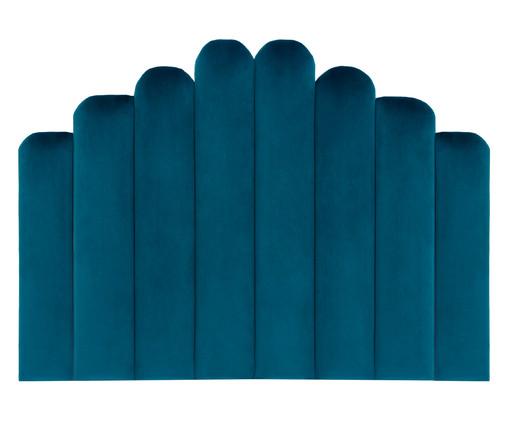 Cabeceira Painel em Veludo Royal Gomos - Esmeralda Pavão, Azul | WestwingNow