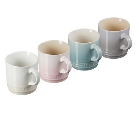 Jogo de Canecas Cappuccino em Cerâmica Calm 04 Pessoas - Colorido | WestwingNow