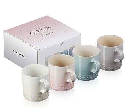 Jogo de Canecas de Chá em Cerâmica Calm - 04 Pessoas | WestwingNow