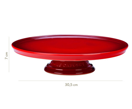 Suporte para Bolo em Cerâmica - Vermelho | WestwingNow