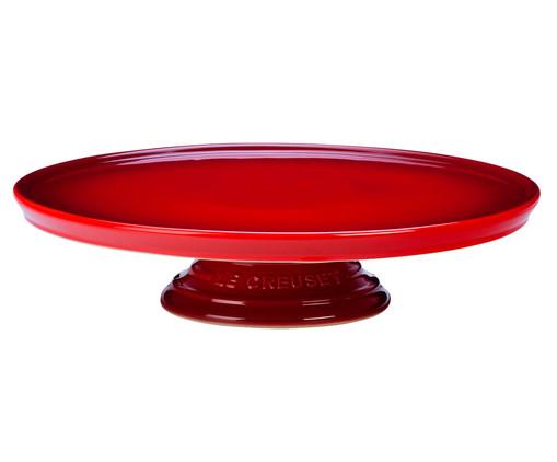Suporte para Bolo em Cerâmica - Vermelho, Vermelho | WestwingNow
