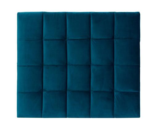Cabeceira Painel em Veludo Matelassê - Esmeralda Pavão, Azul | WestwingNow