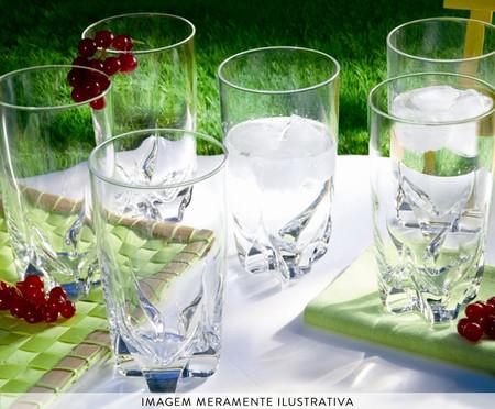 Jogo de Copos para Água em Vidro Nita - Transparente   WestwingNow