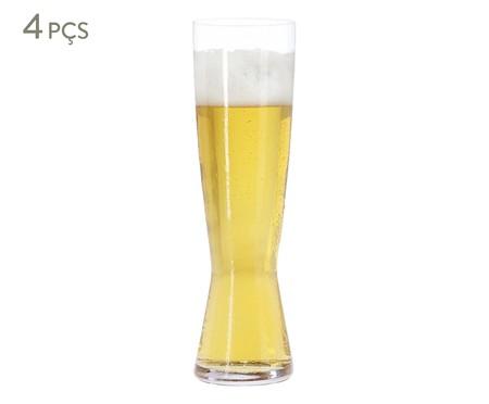 Jogo de Copos para Cerveja em Vidro Wil - Transparente | WestwingNow