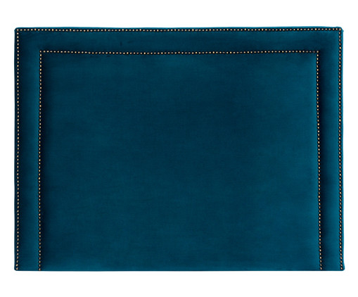 Cabeceira Painel em Veludo Adele - Esmeralda Pavão, Azul | WestwingNow