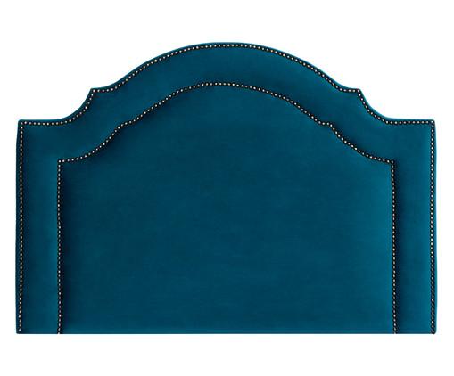 Cabeceira Painel em Veludo Royal Tacha - Esmeralda Pavão, Azul   WestwingNow