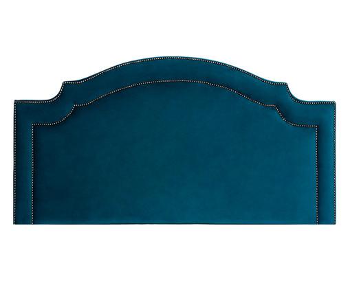 Cabeceira em Veludo Royal Tacha - Esmeralda Pavão, Azul | WestwingNow
