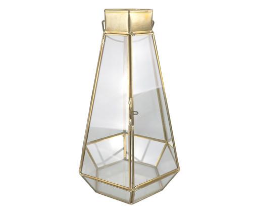 Lanterna Eliora - Transparente e Dourada, Dourado, Transparente | WestwingNow
