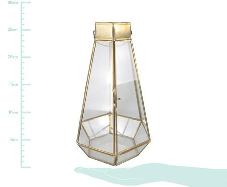 Lanterna Eliora - Transparente e Dourada | WestwingNow