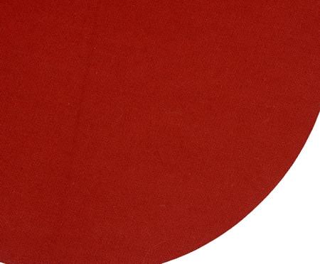 Lugar Americano Redondo de Algodão Cro - Vermelho | WestwingNow