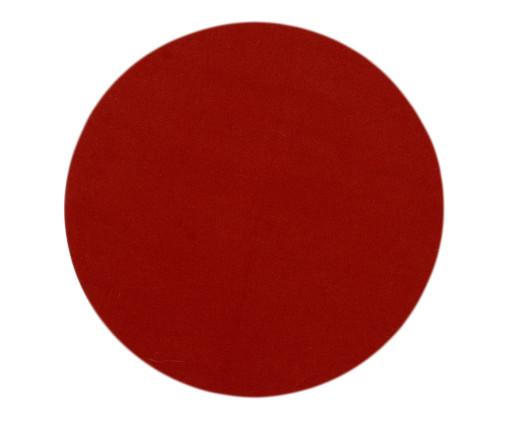 Lugar Americano Redondo de Algodão Cro - Vermelho, multicolor | WestwingNow