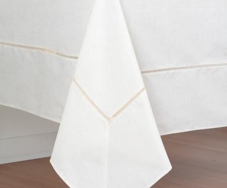 Toalha de Mesa Impermeável em Linho Oen Liso - Bege | WestwingNow