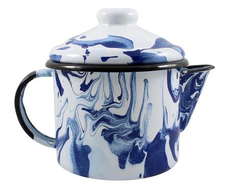 Bule para Chá de Aço Rosito - Azul Marmorizado | WestwingNow