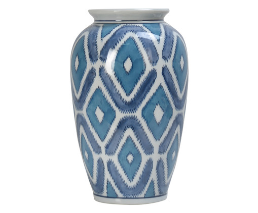 Vaso Tainaçã - Azul e Branco, Branco, Azul | WestwingNow